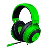 Razer Kraken Gaming Headset 2019 – [Mattschwarz]: Leichter Aluminiumrahmen – einziehbares Mikrofon mit Geräuschunterdrückung – für PC, Xbox, PS4, Nintendo Switch grün