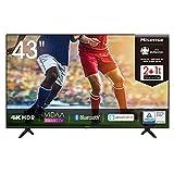 Hisense 43AE7000F 108cm (43 Zoll) Fernseher (4K Ultra HD, HDR, Triple Tuner DVB-C/ S/ S2/ T/ T2, Smart-TV, Frameless, Bluetooth, Alexa)