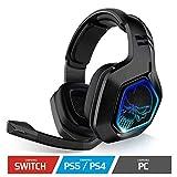 SPIRIT OF GAMER - XPERT-H900 - Headset Pro Gamer-Kopfhörer - Leistungsstarker Bass - Blaue LEDs - Kunstleder - Flexibles Mikrofon - 12-Stunden-Autonomie - PS5 / PC / PS4 / SWITCH