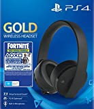 Sony Gold Black Wireless 7.1 Gaming Headset - Fortnite Neo Versa Bundle PS4 [
