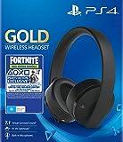 Sony Gold Black Wireless 7.1 Gaming Headset - Fortnite Neo Versa Bundle PS4 [