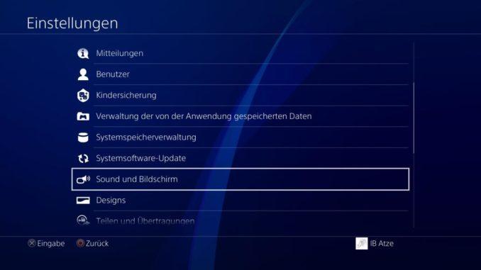 PS4 Headset anschließen Einstellungen Bild