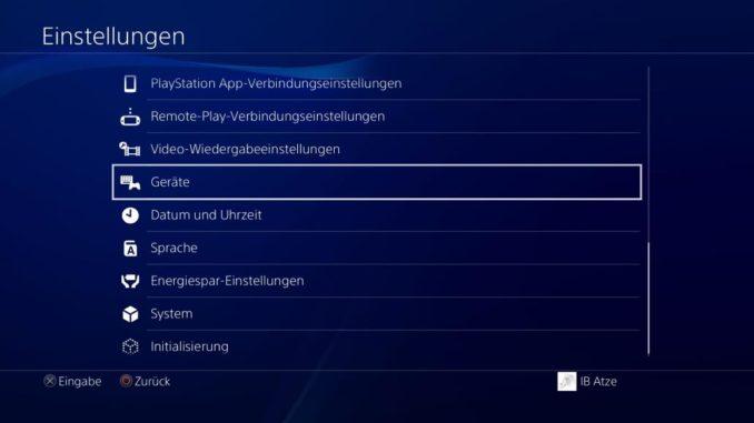 PS4 Headset anschließen Bild